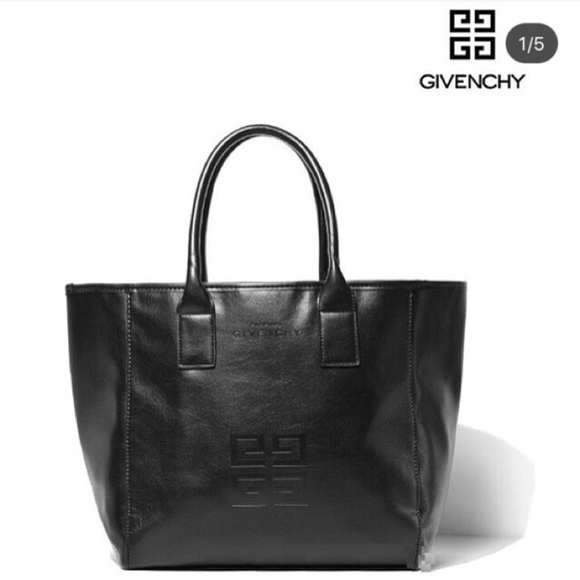 Givenchy Handbags - 🔥💯Auth GIVENCHY PARFUMS Black Leather Tote bag f6a4dc48b9